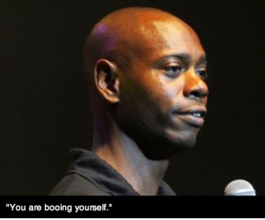 dave chappelle booing